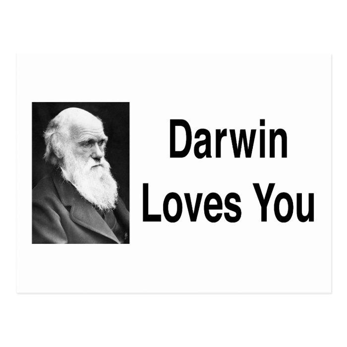 Darwin Loves You 2 Postcard