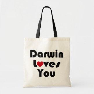 Darwin Loves You Budget Tote Bag