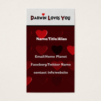 Darwin Loves You Business Card