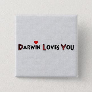 Darwin Loves You Button