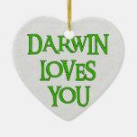 Darwin Loves You Christmas Ornaments