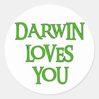 Darwin Loves You Classic Round Sticker