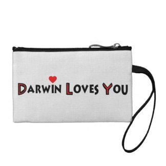 Darwin Loves You Coin Purse
