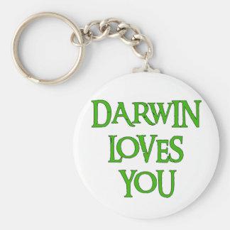 Darwin Loves You Keychain