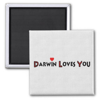 Darwin Loves You Fridge Magnets