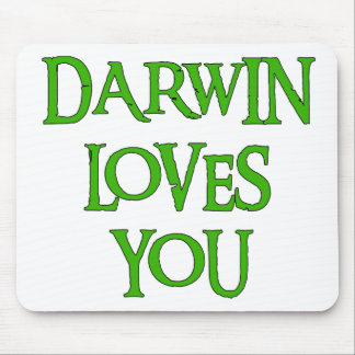Darwin Loves You Mouse Pad