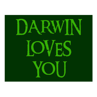 Darwin Loves You Post Cards