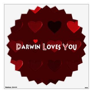 Darwin Loves You Wall Sticker