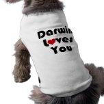 Darwin Lves You Doggie T-shirt