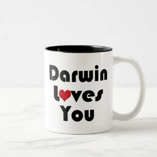 Darwin Lves You Two-Tone Coffee Mug