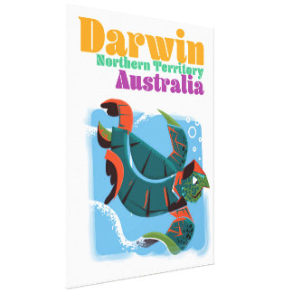 Darwin, Northern Territory Australia travel poster Canvas Print