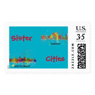 DARWIN, NT SKYLINE - Postage stamps