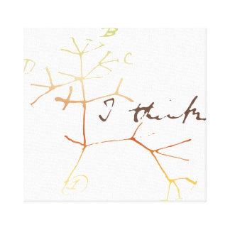 Darwin, pienso el árbol en vida impresión en lienzo estirada
