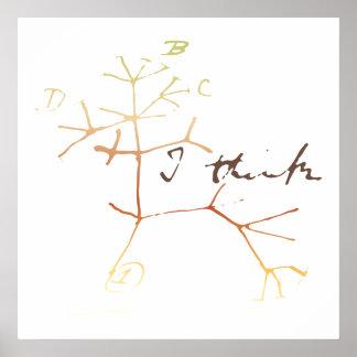 Darwin, pienso el árbol en vida póster