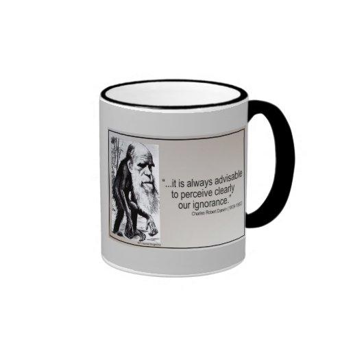 Darwin Quote ~ Ignorance Mug