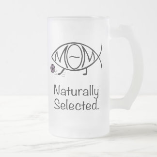 Darwin Soccer Mom Frosted Glass Beer Mug