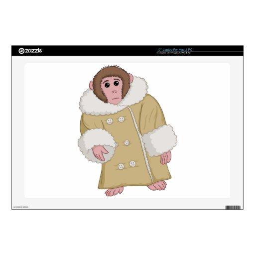 """Darwin the Ikea Monkey 17"""" Laptop Skin"""
