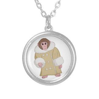Darwin the Ikea Monkey Round Pendant Necklace