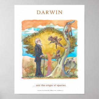 Darwin the origin of species Victor Diogenes Poster