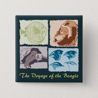 Darwin, The Voyage of the Beagle Pinback Button