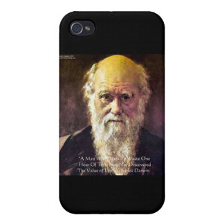 "Darwin ""Value Of Life"" Wisdom Quote Gifts & Cards iPhone 4/4S Cover"
