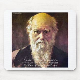 """Darwin """"Value Of Life"""" Wisdom Quote Gifts & Cards Mouse Pad"""