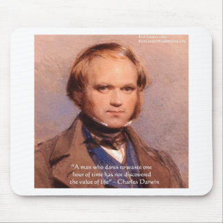 """Darwin """"Value Of Life"""" Wisdom Quote Gifts Tees Etc Mouse Pad"""