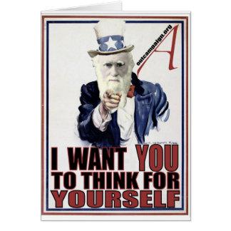 Darwin Wants You Card