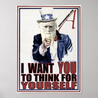 Darwin Wants You Poster