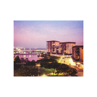 Darwin Waterfront at sunset canvas