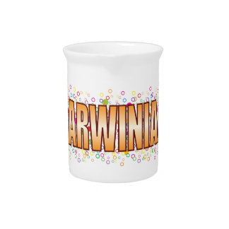 Darwinian Bubble Tag Beverage Pitcher
