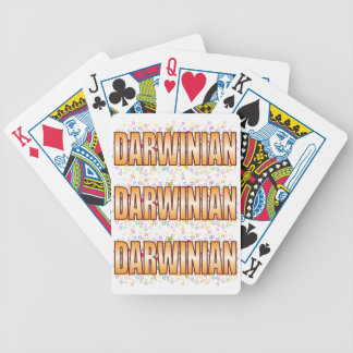 Darwinian Bubble Tag Bicycle Playing Cards