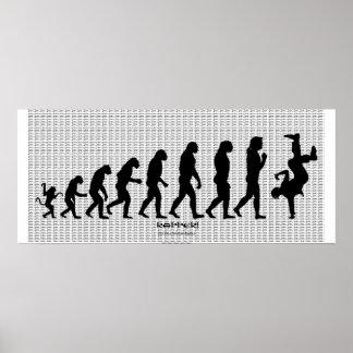 "Darwinian Evolution of Rap ""RAPPER"" Art Poster"
