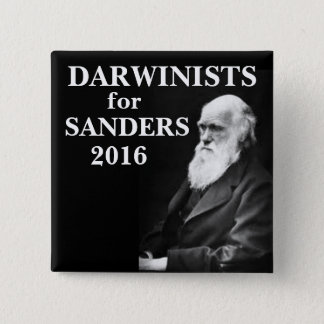 Darwinists for Sanders Pinback Button