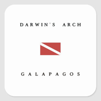 Darwin's Arch Galapagos Scuba Dive Flag Square Sticker