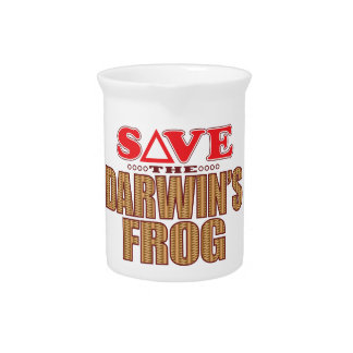Darwins Frog Save Drink Pitcher