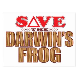 Darwins Frog Save Postcard