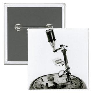 Darwin's microscope 2 inch square button