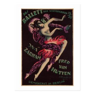 Das Ballett (el ballet), José Fenneker Tarjeta Postal