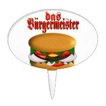 das Burgermeister Cake Topper