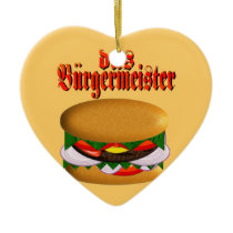 das Burgermeister Heart-Shaped Ornament