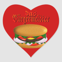 das Burgermeister Heart-Shaped Stickers