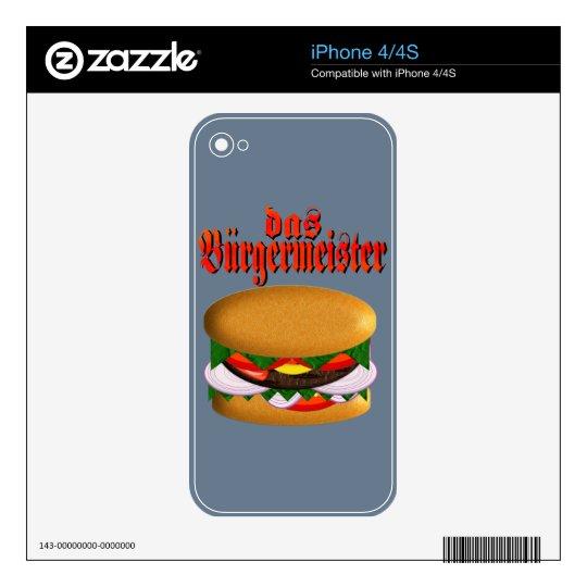 das Burgermeister iPhone 4 Skin