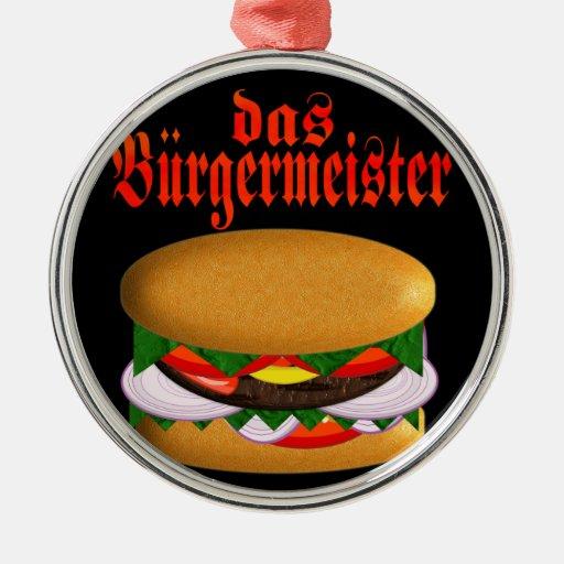 das Burgermeister Round Round Metal Christmas Ornament