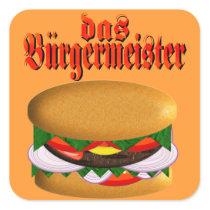 das Burgermeister Stickers