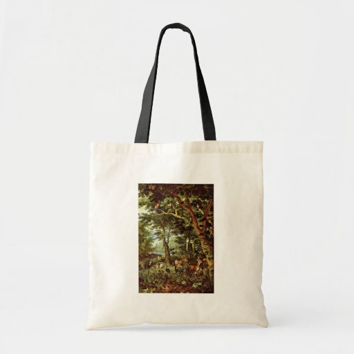 Das Paradies By Jan Brueghel The Elder (Best Quali Budget Tote Bag