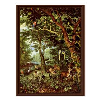 Das Paradies By Jan Brueghel The Elder (Best Quali Postcard