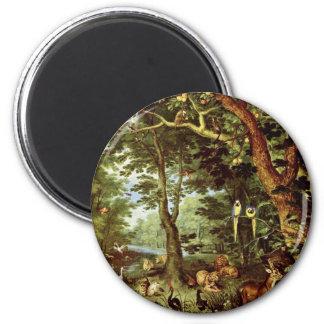 Das Paradies en enero Brueghel la anciano (el mejo Imán Para Frigorífico