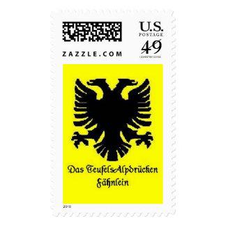Das TeufelsAlpdrucken Fahnlein Stamps