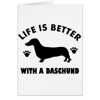 daschund dog design card